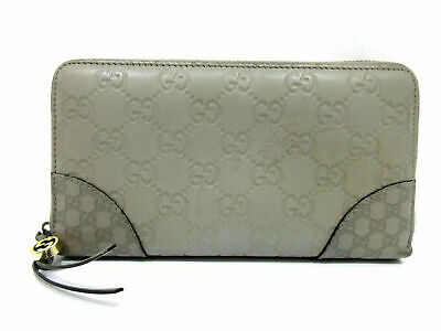 b5f282a3f80 Authentic Gucci Guccissima Zip Around Long Wallet 323397 Gray 63165