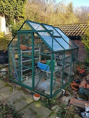 Aluminium Greenhouse Glass 6 x 6