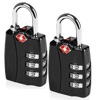 100% Pure Zinc Alloy TSA Approved Luggage Travel Lock (Pack of 1/2/3/4/5/10)