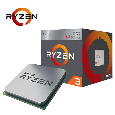 AMD Ryzen3 2200G Quad Core AM4 Max 3.7GHz 6MB Cache 4Threads RX Vega Graphics 3Y