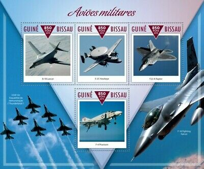 Guine Bissau 2015 Sheet Mnh Military Planes Avions Militaires Airplanes 2