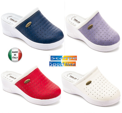 Ciabatte  Pantofole Sabot Donna  Sanitarie  Tiglio  2045   Made In Italy