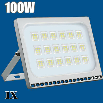 100W LED Floodlight Security Flood Light Outdoor Spotlight Cool White Lamp IP68