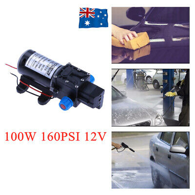 100W 12V 160PSI Pressure Water Pump Caravan Camping Boat Farm Self-Priming 8 Lpm