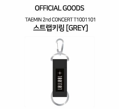 TAEMIN SHINEE 2nd CONCERT T1001101 OFFICIAL GOODS STRAP KEY RING KEYRING GREY