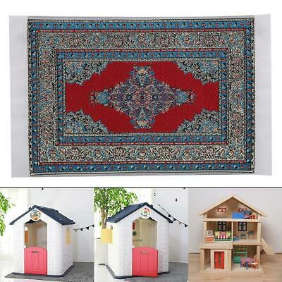 1/12 Woven Rug Floor Carpet Dollhouse Furniture Accessory Miniatures for Child
