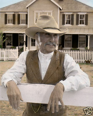 "ROBERT DUVALL AUGUSTUS McCRAE LONESOME DOVE 1989 8X10"" HAND COLOR TINTED PHOTO"