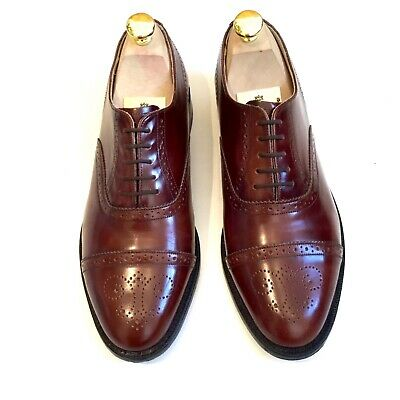 8b24bbe2284c6 BARKER ALFRED SEMI-BROGUE Oxford Shoes UK 8 Brown Goodyear welted ...
