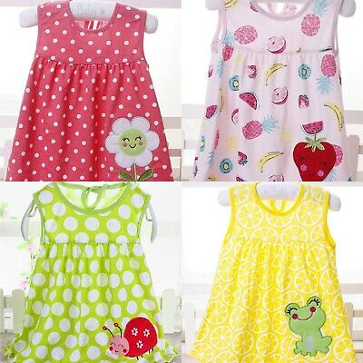 Wholesale Job Lot of 20 x NEW Cotton Summer Baby BRIGHT Dresses in 4 styles