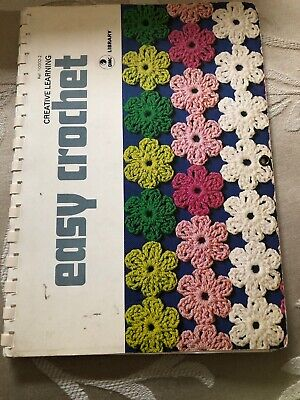 Easy Crochet Dmc Library 1977 Soft Cover Book 70 Pages