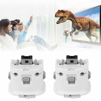 2X Motion Plus MotionPlus Adapter Sensor for Nintendo Wii Remote Controller Weiß