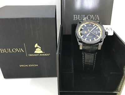NEW! Authentic Bulova Men's Precisionst Grammy's Special Edition Watch 98B293
