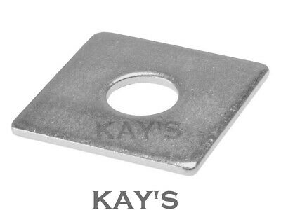 Stainless Steel Square Plate Washers Thick Heavy Duty A2 Or A4 Marine Grade