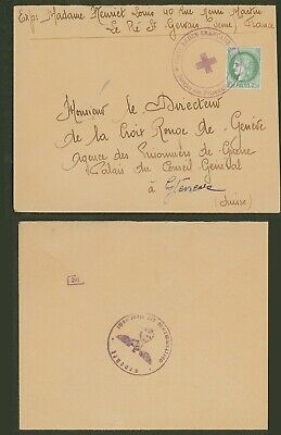 France WWII - Red Cross POW Cover to Switzerland - Censor