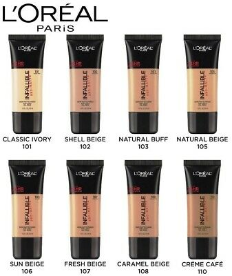 LOreal Paris Infallible Pro-Matte 24HR Foundation | Water Proof & Smudge Proof