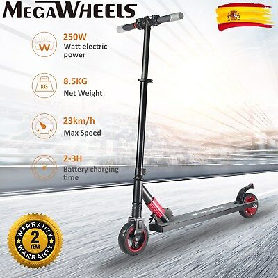 "5.5"" Monopatín Eléctrico Patinete MegaWheels S1 250W Motor Scooter Plegable HOT!"