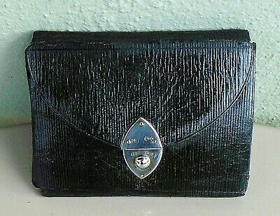 Antique Silver & Leather Sewing Case Wallet Lockwood & Co. London 1892