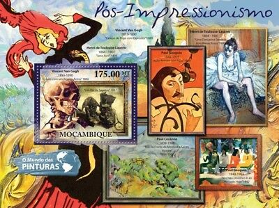 Mozambique 2011 Sheet Mnh Post Impressionism Art Paintings Postimpresionismo 5A