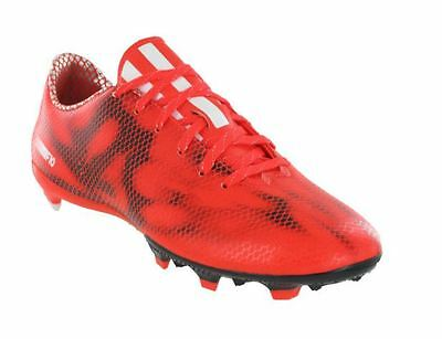 5fec1b8aa Adidas Football Boots F10 FG Firm Ground Red Mens Lace Moulded Studs B34859