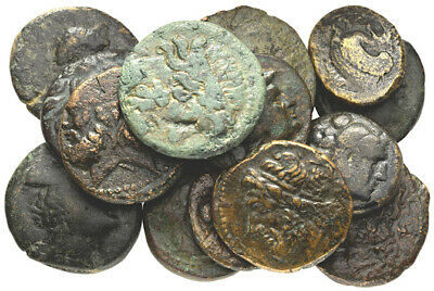 FORVM Lot of 15 Ancient Greek Bronze Coins Nice!!!