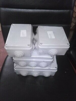 Electrical Junction box IP55 Dust, Waterproof variety of 4 sizes -Free Fast Post