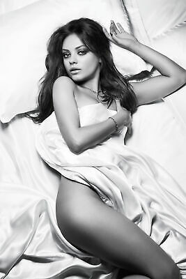 Mila Kunis Posing Sexy In Silk Sheets 8x10 Picture Celebrity Print