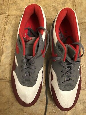 sports shoes fe3d2 fc41a A520 Nike Air Max 1 AH8145-100 University Red White Mens Sneakers Size 10.5  NEW