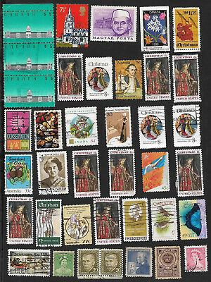 (111cents) World Wide Collection of used stamps x 65+