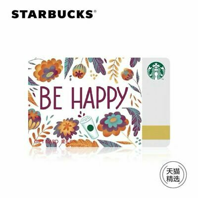 2019 Starbucks China Spring Be Happy Gift Card Pin Intact