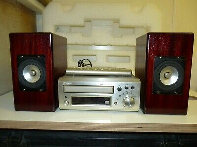 DENON CD Receiver UD- M31 audio shelve system with  custom made speakers.