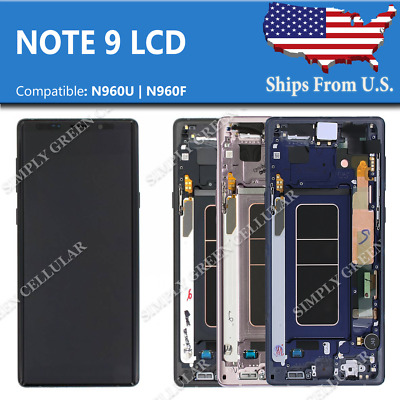OEM Samsung Note 9 LCD Replacement Screen Digitizer With Frame (SBI)