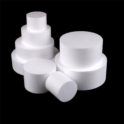 Round Styrofoam Foam Cake Dummy Modelling Sugarcraft Flower Wedding Decor newFO