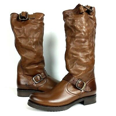 8861f37fe628 NEW  368 Frye Womens Size 9 Boots Veronica Slouch Cognac Brown Leather  Casual