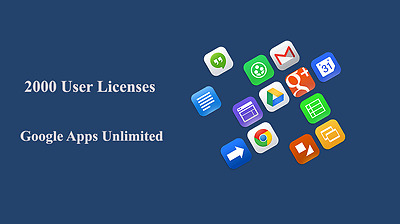 Domain name with 2000 users for Google apps Unlimited (G Suite Unlimited)