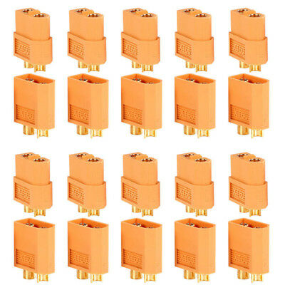 20PCS 10 Pairs XT60 Male Female Bullet Connectors Plugs For RC Lipo Battery LE