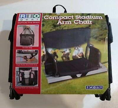 RIO Gear Bleacher Boss Compact Stadium Arm Chair Seat with Carrying Handle