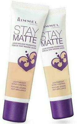 Rimmel London Stay Matte Liquid Mousse Foundation 30ml - Choose Your Shade