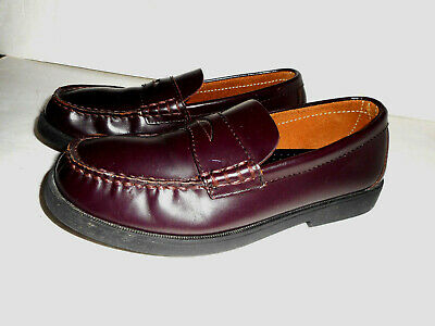 fb47fe1ecda SPERRY TOP SIDER Colton Boys Maroon Leather Penny Loafers Size US 6 ...