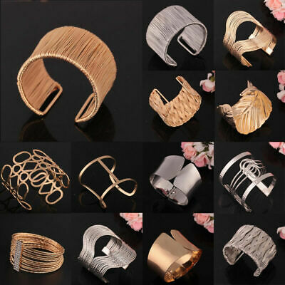 New Womens Mens Exaggerated Statement Bracelet Bangle Hollow Out Jewelry Gift