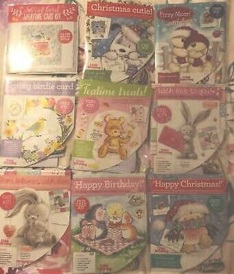 Bundle 9 Mini Cross Stitch Card Kits (Cover Gifts From Magazines World & Crazy)