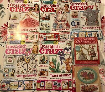 Bundle 5 Cross Stitch Crazy Magazines From 2016 Back Issues 211 212 213 214 215