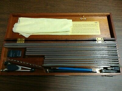 Vintage K&E LEROY Lettering Drafting Tool Set In Original Wood Box - Electronics