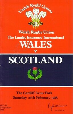 WALES v SCOTLAND 1988 RUGBY UNION