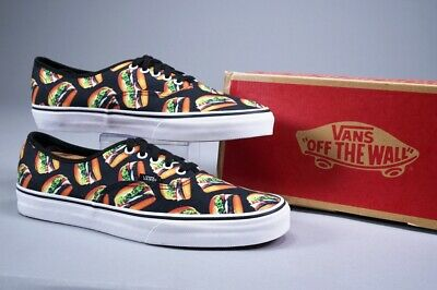 d934cc8feab Vans Authentic Late Night Black hamburgers Skate Shoes W  Box ~ Us Mens 11.5