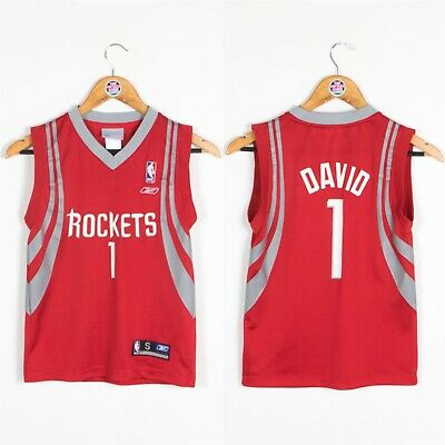 Kids Boys Youths Nba Houston Rockets Jersey Basketball Vest Reebok 6 - 8 Years