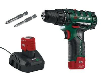Parkside 12V Cordless Drill Driver with 2Ah Li-Ion Battery , Charger and Case !*