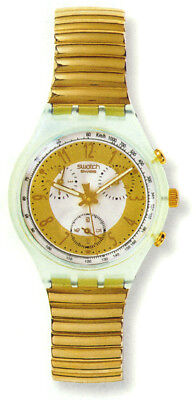 "Swatch Vintage Chrono 1993 "" Golden Globe "" Scg100"