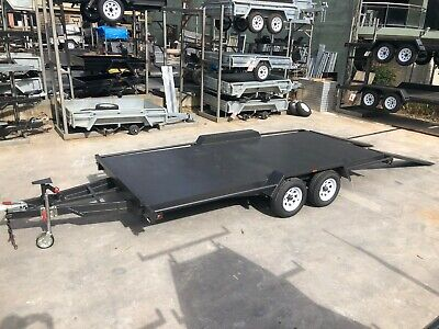14x6'6'' CAR TRAILER | 2800kg GVM | SEMI FLAT TRAILER | RAMPS | WINCH POST
