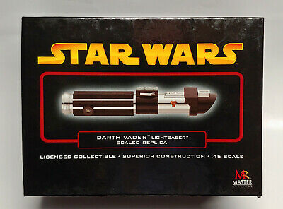 Master Replicas Star Wars Ep Iii Rots Darth Vader Gold Lightsaber .45 Sw-316 New