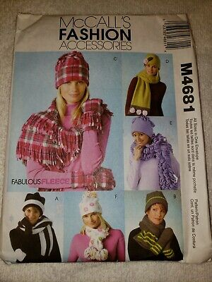 334276a844e MCCALL S SEWING PATTERN 5254 Girl s Size S M L Hat Scarf Mittens ...